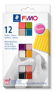 "STAEDTLER Fimo Soft Materialpackung ""Fashion Colours"" 12 Halbblöcke"