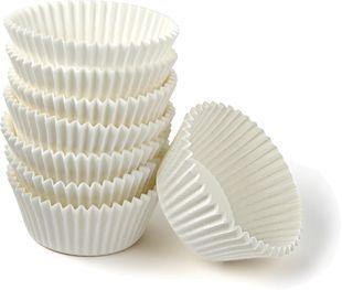 FACKELMANN Muffinbackformen Ø 5 cm 100 Stück weiß