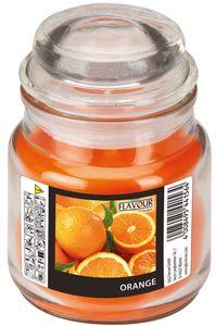 "Kerze im Bonbonglas ""Orange"" Ø 6,3 cm H: 8,5 cm orange"