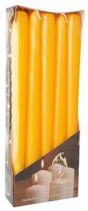Leuchterkerzen Ø 2 cm H: 25 cm 10 Stück goldgelb