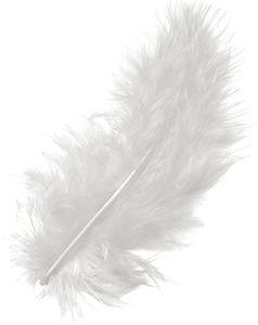 KNORR PRANDELL Marabufedern 15 Stück weiß