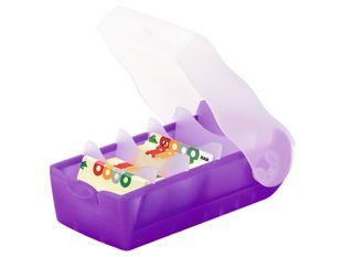 """HAN Lernkarteikasten """"Croco"""" mit Karteikarten A8 violett"""