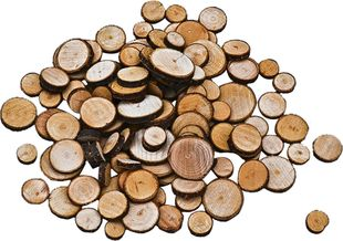 Holzscheiben 100 Stück braun