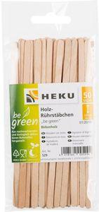"""Holzrührstäbchen """"Be green"""" 14 cm 50 Stück braun"""