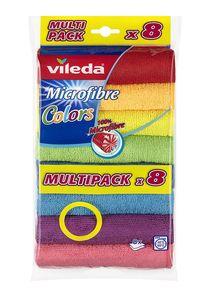 """VILEDA Microfaser Allzwecktuch """"Color"""" 30 x 30 cm mehrere Farben 8 Stück"""