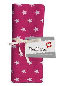 """BEALENA Baumwollstoff """"Sterne"""" 50 x 70 cm pink"""