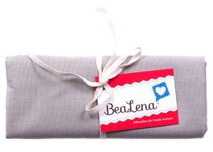 "BEALENA Baumwollstoff ""Uni"" 50 x 70 cm grau"