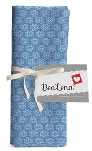 """HOTEX Baumwollstoff """"Blumen"""" 50 x 70 cm hellblau"""