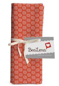 """BEALENA Baumwollstoff """"Blumen"""" 50 x 70 cm orange"""