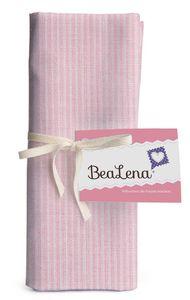 """HOTEX Baumwollstoff """"Streifen"""" 50 x 80 cm rosa"""