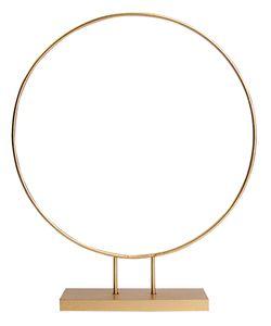Drahtring mit Fuß Ø 30 cm gold