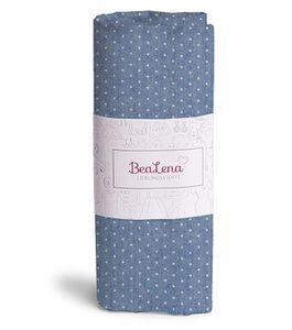 "HOTEX Jeans-Baumwollstoff ""Punkte"" 50 x 70 cm blau"