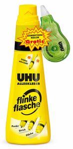 "UHU Alleskleber ""Flinke Flasche"" 90g inkl. gratis Korrekturroller"