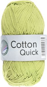 "GRÜNDL Strickgarn ""Cotton Quick"" 50g hellgrün"