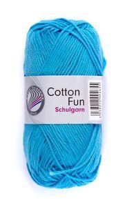 """GRÜNDL Garn """"Cotton Fun"""" 50g himmelblau"""