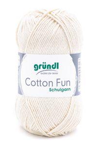 "GRÜNDL Garn ""Cotton Fun"" 50g creme"