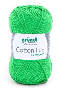 "GRÜNDL Garn ""Cotton Fun"" 50g froschgrün"
