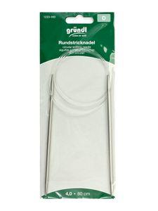 GRÜNDL Rundstricknadel 4 mm silber