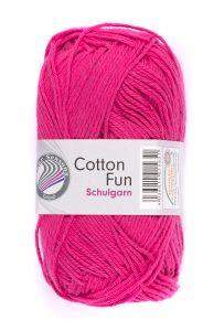 """GRÜNDL Garn """"Cotton Fun"""" 50g fuchsia"""