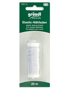 GRÜNDL Elastik-Nähfaden 20 m weiß