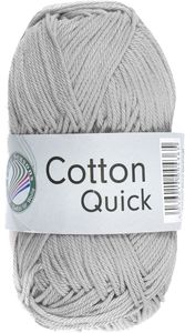 "GRÜNDL Strickgarn ""Cotton Quick"" 50g silbergrau"