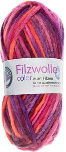"GRÜNDL Filzwolle ""Color"" 50g orange/fuchsia/lila"