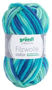 "GRÜNDL Filzwolle ""Color"" 50g aqua"