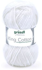 """GRÜNDL Wolle """"King Cotton"""" 50g weiß"""