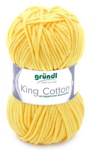 """GRÜNDL Wolle """"King Cotton"""" 50g zitrone"""