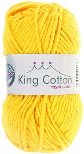 """GRÜNDL Wolle """"King Cotton"""" 50g zitronengelb"""