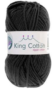 """GRÜNDL Wolle """"King Cotton"""" 50g schwarz"""