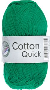"GRÜNDL Strickgarn ""Cotton Quick"" 50g smaragdgrün"