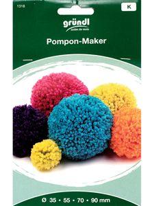 """GRÜNDL """"Pompon-Maker"""" mit 4 Schablonen"""
