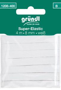 "GRÜNDL Gummiband ""Super-Elastic"" 4 m x 8 mm weiß"