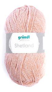 """GRÜNDL Wolle """"Shetland"""" 100g rose melange"""