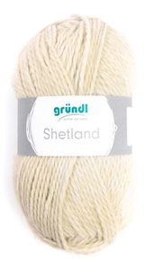 "GRÜNDL Wolle ""Shetland"" 100g creme melange"