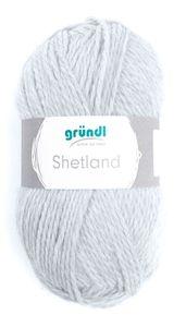 """GRÜNDL Wolle """"Shetland"""" 100g hellgrau melange"""