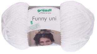 """GRÜNDL Wolle """"Funny Uni"""" 100g weiß"""