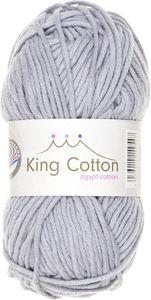 "GRÜNDL Wolle ""King Cotton"" 50g hellgrau"