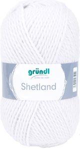 "GRÜNDL Wolle ""Shetland"" 100g weiß"
