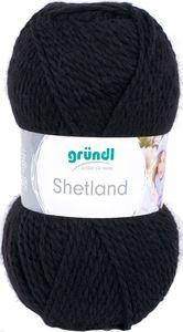 "GRÜNDL Wolle ""Shetland"" 100g schwarz"