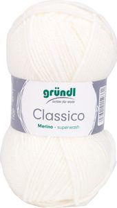"GRÜNDL Wolle ""Classico"" 50g weiß"