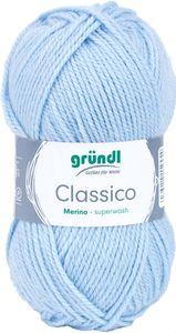 """GRÜNDL Wolle """"Classico"""" 50g hellblau"""