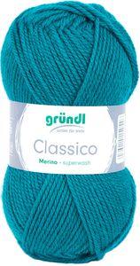 """GRÜNDL Wolle """"Classico"""" 50g petrol"""