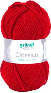 "GRÜNDL Wolle ""Classico"" 50g rot"
