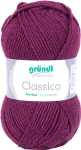 """GRÜNDL Wolle """"Classico"""" 50g beere"""