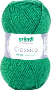 "GRÜNDL Wolle ""Classico"" 50g blattgrün"