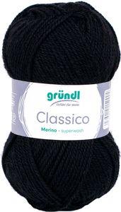 """GRÜNDL Wolle """"Classico"""" 50g schwarz"""