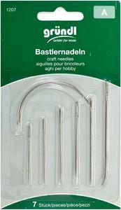 GRÜNDL Bastlernadeln 7 Stück silber