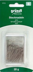 GRÜNDL Stecknadeln aus Stahl 20g silber